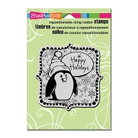 Stampendous Cling Mounted Rubber Stamps - Penguin Holiday