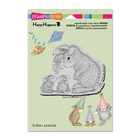 Stampendous Cling Mounted Rubber Stamps - House Mouse Happy Hopper Mistletoe Bunnies