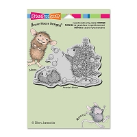 Stampendous Cling Mounted Rubber Stamps - House Mouse Juggling Ornaments