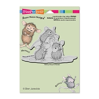 Stampendous Cling Mounted Rubber Stamps - House Mouse Mistletoe Mice