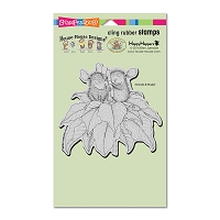 Stampendous Cling Mounted Rubber Stamps - House Mouse Poinsettia Candle