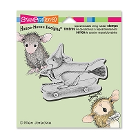 Stampendous Cling Mounted Rubber Stamps - House Mouse Skateboard Witch