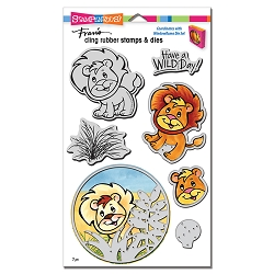 Stampendous - Lion Cling Rubber Stamps and Cutting Dies Set