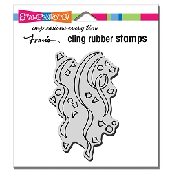 Stampendous Cling Mounted Rubber Stamps - Confetti Streamers