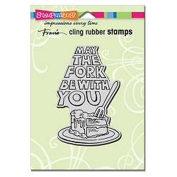 Stampendous Cling Mounted Rubber Stamps - May The Fork