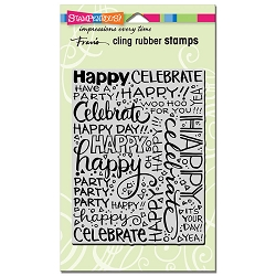 Stampendous Cling Mounted Rubber Stamps - Party Background