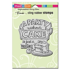 Stampendous Cling Mounted Rubber Stamps - Without Cake