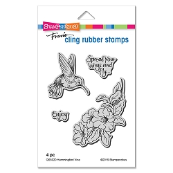 Stampendous - Hummingbird Vine Cling Rubber Stamp Set