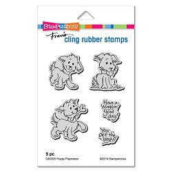 Stampendous - Puppy Playmates Cling Rubber Stamp Set