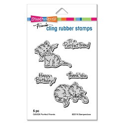 Stampendous - Purrfect Friends Cling Rubber Stamp Set