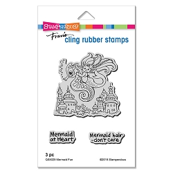 Stampendous - Mermaid Fun Cling Rubber Stamp Set