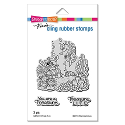 Stampendous - Pirate Fun Cling Rubber Stamp Set