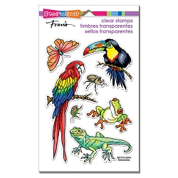Stampendous Perfectly Clear Stamp - Jungle Life Perfectly Clear Stamps Set