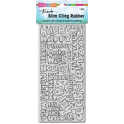 Stampendous - Slim Birthday Words Cling Rubber Stamp