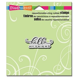 Stampendous Cling Mounted Rubber Stamps - Scrolled Hello