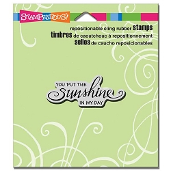 Stampendous Cling Mounted Rubber Stamps - Scrolled Sunshine