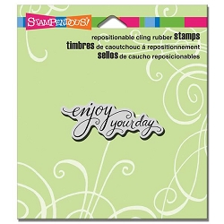 Stampendous Cling Mounted Rubber Stamps - Scrolled Enjoy