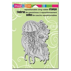 Stampendous Cling Mounted Rubber Stamps - Jellyfish