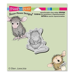 Stampendous Cling Mounted Rubber Stamps - House Mouse Designs - Sitting Pretty Rubber Stamp