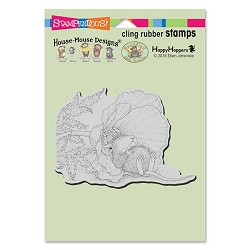 Stampendous Cling Mounted Rubber Stamps - House Mouse Designs - Poppy Nap Rubber Stamp