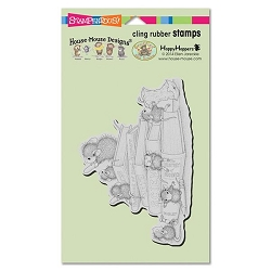Stampendous Cling Mounted Rubber Stamps - House Mouse Designs - School Mice Rubber Stamp