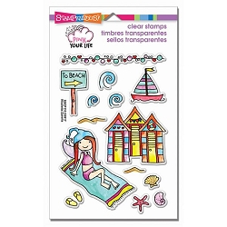 Stampendous Perfectly Clear Stamp - Pink Your Life Whisper Friends Beach Day
