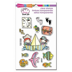 Stampendous Perfectly Clear Stamp - Pink Your Life Whisper Friends Pirates