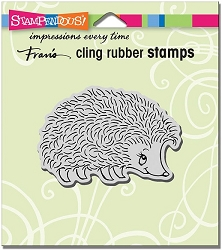 Stampendous Cling Mounted Rubber Stamps - Happy Hedgehog