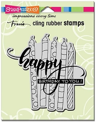 Stampendous Cling Mounted Rubber Stamps - Candle Wish