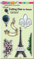 Stampendous - Cutting Die - Paris Bonjour Die Set