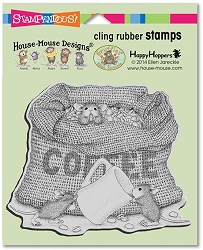 Stampendous Cling Mounted Rubber Stamps - House Mouse Designs - Coffee Break