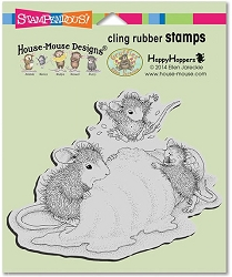 Stampendous Cling Mounted Rubber Stamps - House Mouse Designs - Ice Cream Crazy