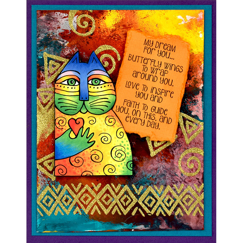 Stampendous Laurel Burch Cling Stamp-My Dream