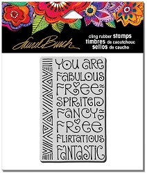 Stampendous - Laurel Burch - Cling Rubber Stamp Fabulous