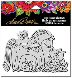 Stampendous - Laurel Burch - Cling Rubber Stamp Mystical Mare