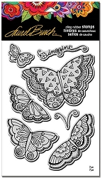 Stampendous - Laurel Burch - Imagine Butterflies Cling Rubber Stamp Set