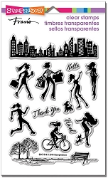 Stampendous Perfectly Clear Stamp - Sassy City