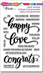 Stampendous Perfectly Clear Stamp - Big Words Happy