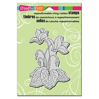 Stampendous Cling Mounted Rubber Stamps - Cyclamen