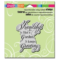 Stampendous Cling Mounted Rubber Stamps - Friendship Grows