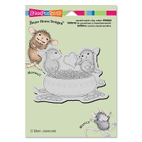 Stampendous Cling Mounted Rubber Stamps - House Mouse Designs - Paper Clip Heart