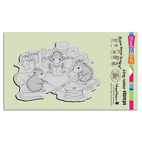 Stampendous Cling Mounted Rubber Stamps - House Mouse Designs - Cheese Wrappers