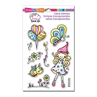 Stampendous Perfectly Clear Stamp - Pink Your Life Whisper Fly