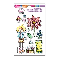 Stampendous Perfectly Clear Stamp - Pink Your Life Whisper Garden