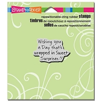 Stampendous - Cling Mounted Rubber Stamp - Sweet Surprises