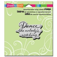 Stampendous - Cling Mounted Rubber Stamp - Dance Like