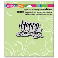 Stampendous - Cling Mounted Rubber Stamp - Penned Anniversary