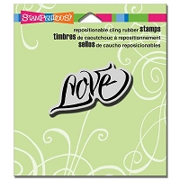 Stampendous - Cling Mounted Rubber Stamp - Penned Love
