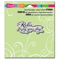 Stampendous - Cling Mounted Rubber Stamp - Relax Enjoy