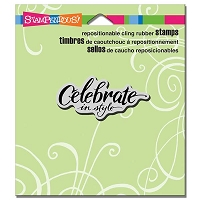 Stampendous - Cling Mounted Rubber Stamp - Penned Celebrate